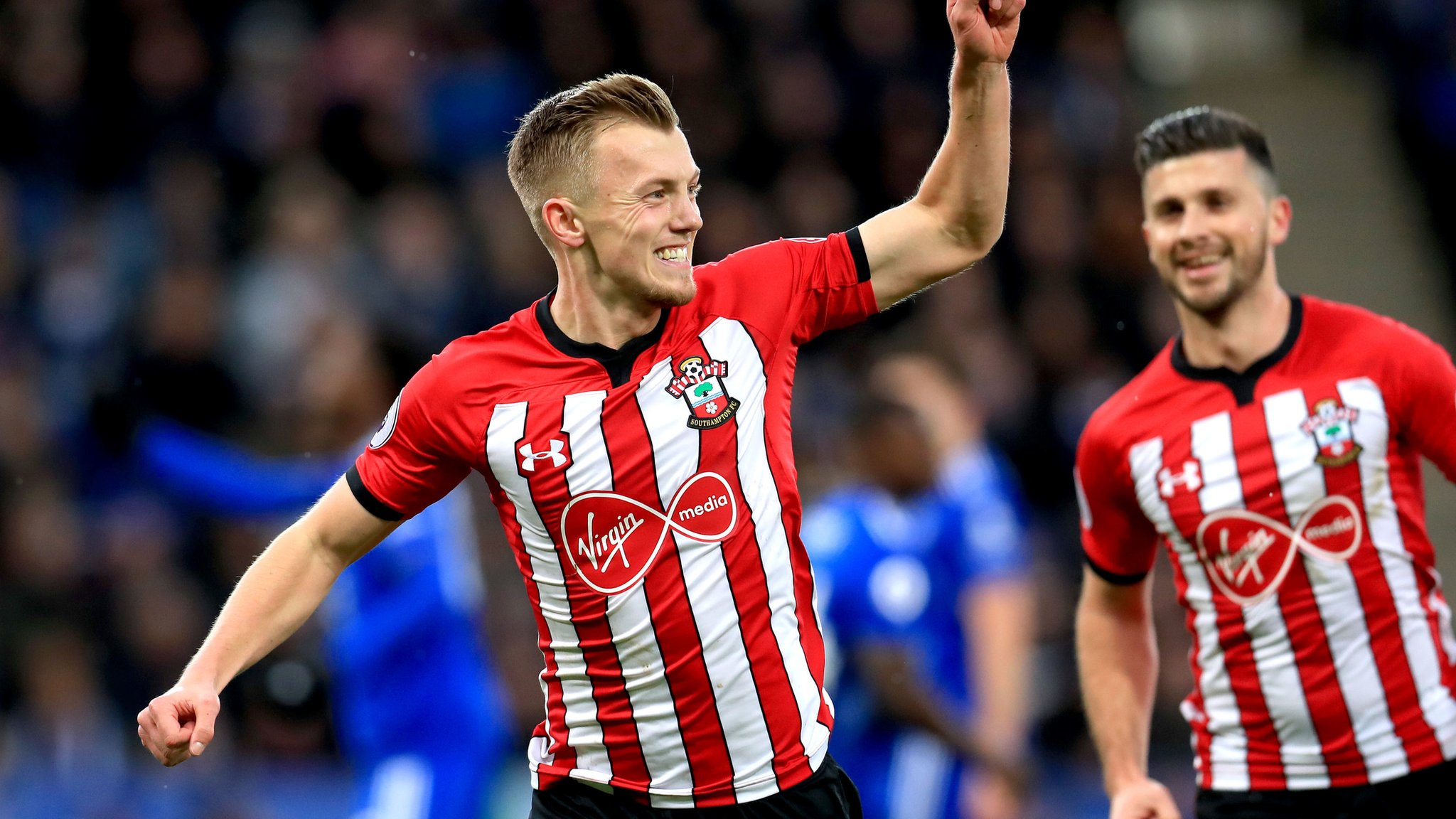 Leicester 1-2 Southampton: Ward-Prowse and Long earn win for 10-man Saints