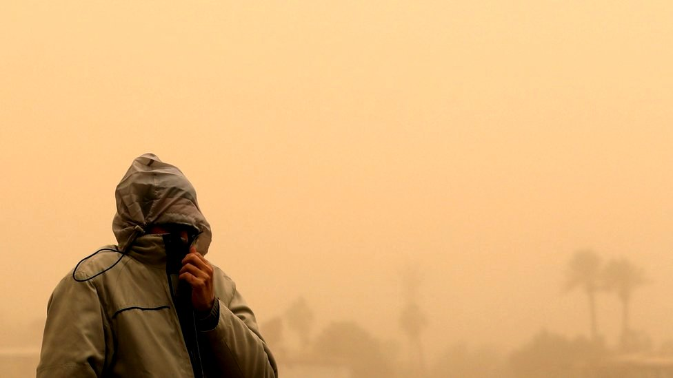 In pictures: Cairo turns orange as sandstorm hits