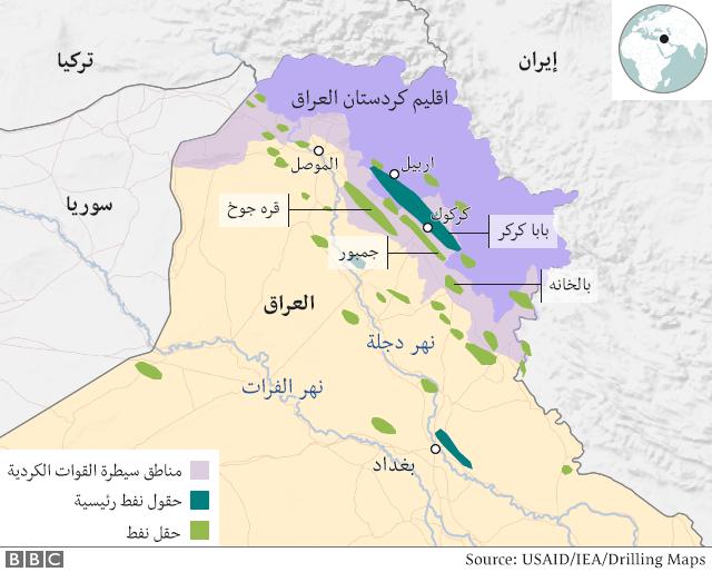 خارطة كردستان العراق