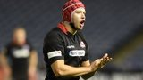 Grant Gilchrist marshalls an Edinburgh lineout