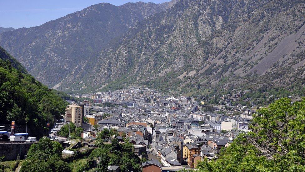A view of Andorra's capital Andorra la Vella