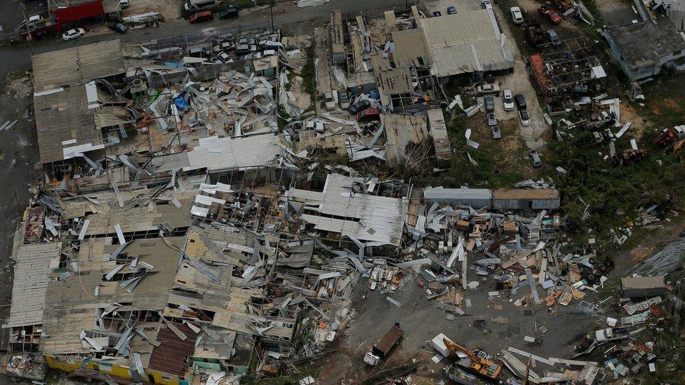 Destrozos en Puerto Rico