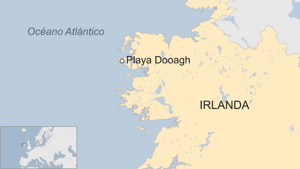 Playa Dooagh mapa