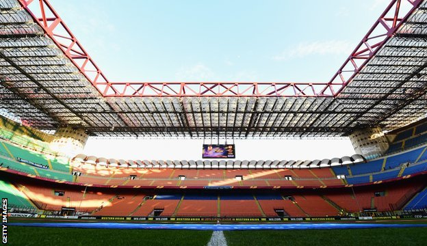 The San Siro Stadium in Milan