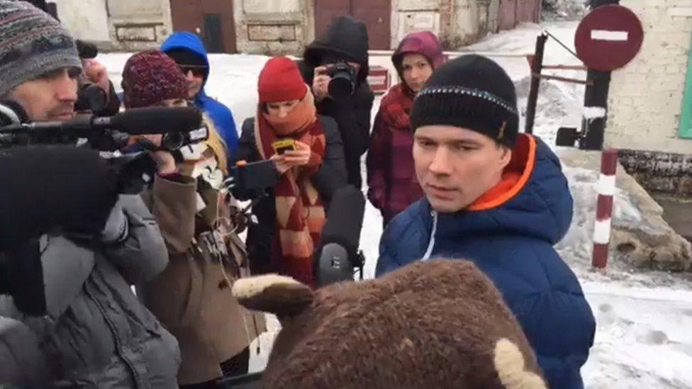 Российский оппозиционер Дадин вышел на свободу