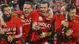 Wales players celebrate