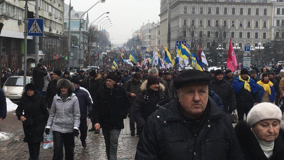 У ході прибічників Саакашвілі взяли участь кілька тисяч людей