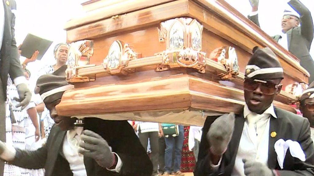 Ghana's dancing pallbearers bring funeral joy