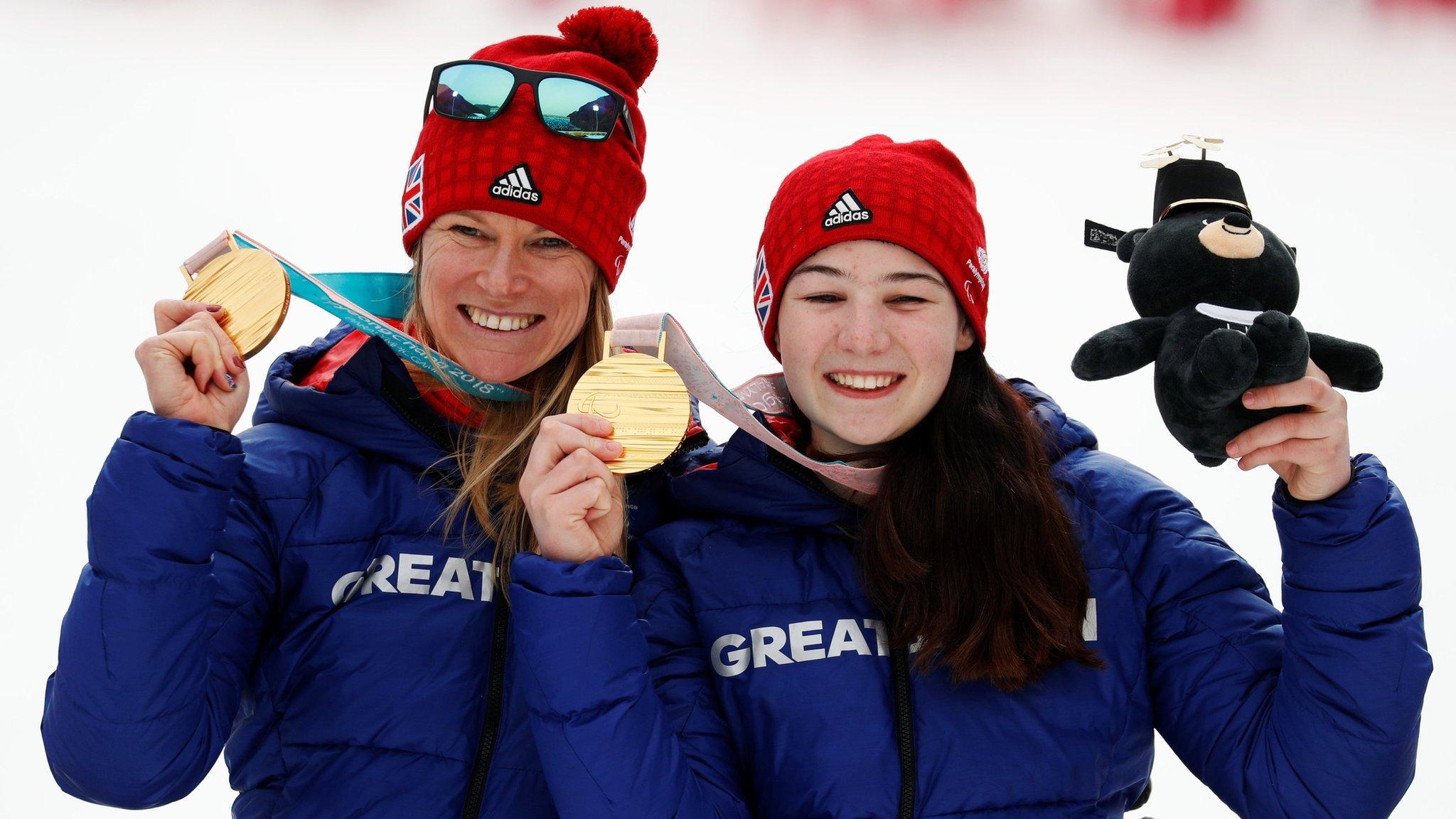 Winter Paralympics: Britons Menna Fitzpatrick & Jen Kehoe win slalom gold