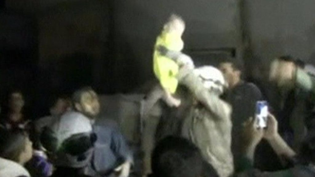 Month-old baby girl pulled from rubble in Idlib