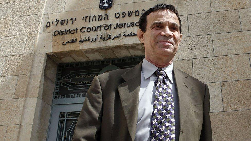 Oded Golan saliendo del tribunal de Jerusalén.