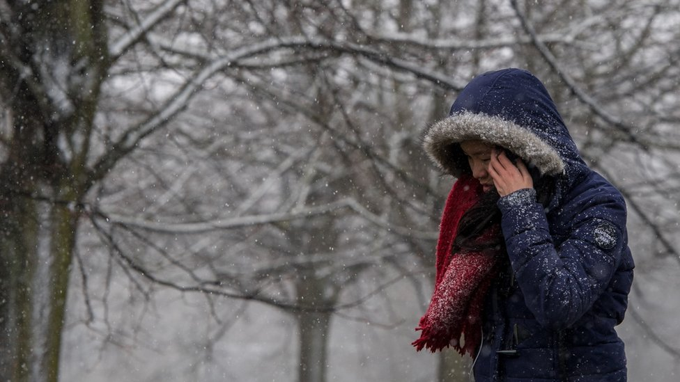 'Mini Beast from the East' brings snow and ice to parts of UK