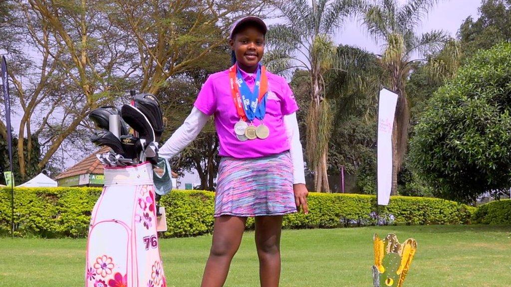 Kenyan girl golfer Chanelle Wangari aims for the top