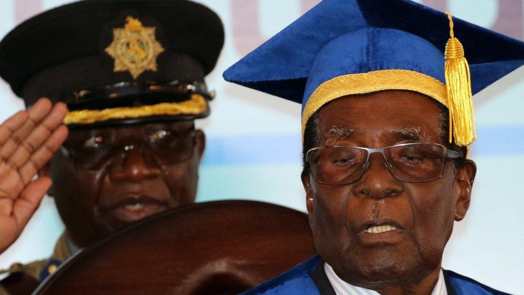 Zimbabwe latest: Military backs anti-Mugabe march