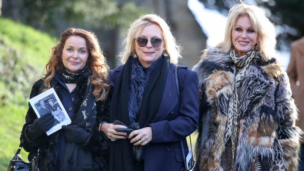 Ab Fab stars say farewell to June Whitfield