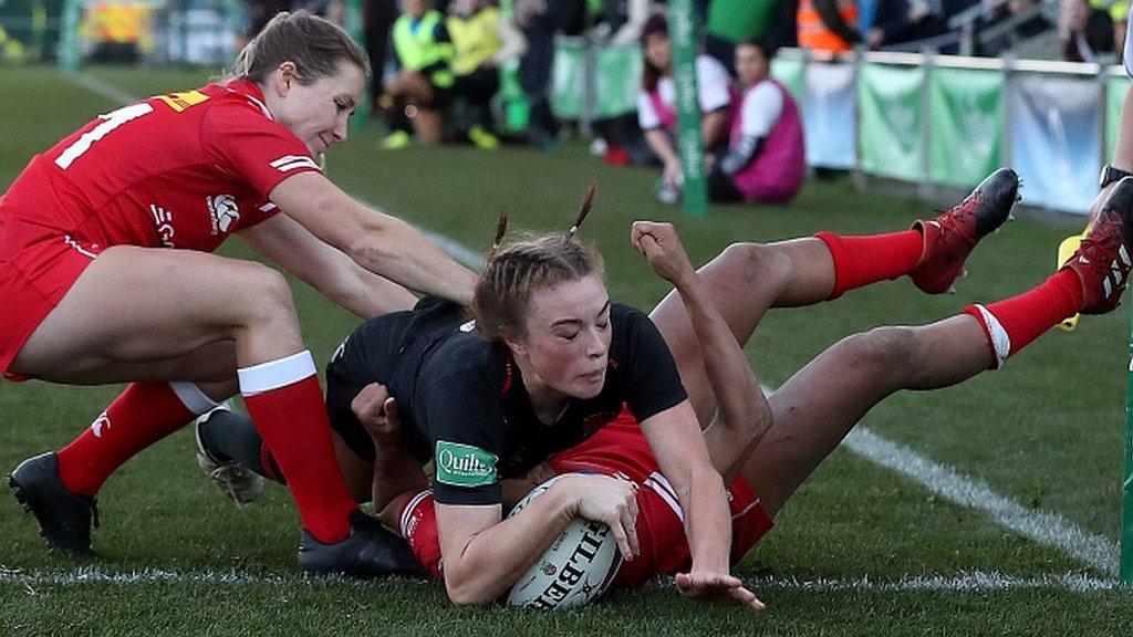 England women 27-19 Canada: Lark Davies scores twice in battling victory