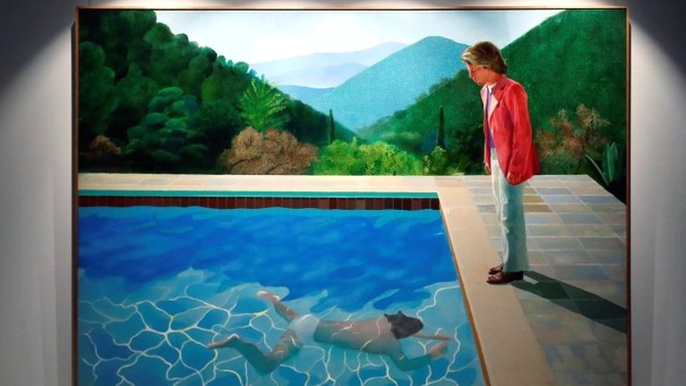 Hockney painting breaks auction record for living artist