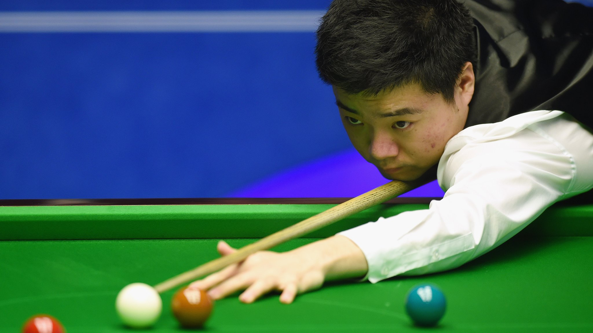 International Championship: John Higgins out as Judd Trump reaches last four