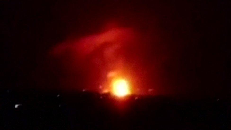 Syria blasts at Mezzeh military airport 'not Israeli strikes'