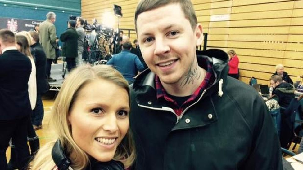 BBC News - Rapper Professor Green appears at Stoke by-election count
