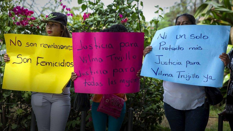 Protesta contra el femicidio.
