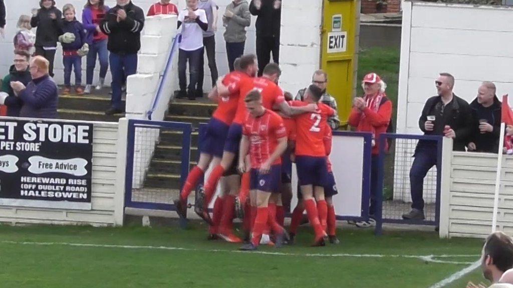 Bromsgrove Sporting: Jason Cowley scores spectacular goal for non-league side