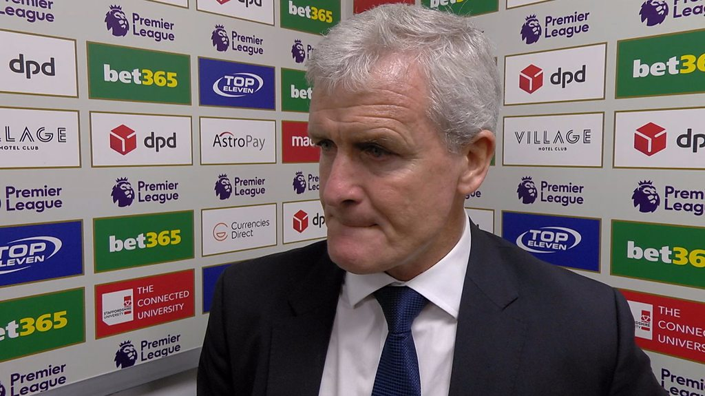 Stoke 1-0 Arsenal: Mark Hughes delighted after 'big' win over Gunners