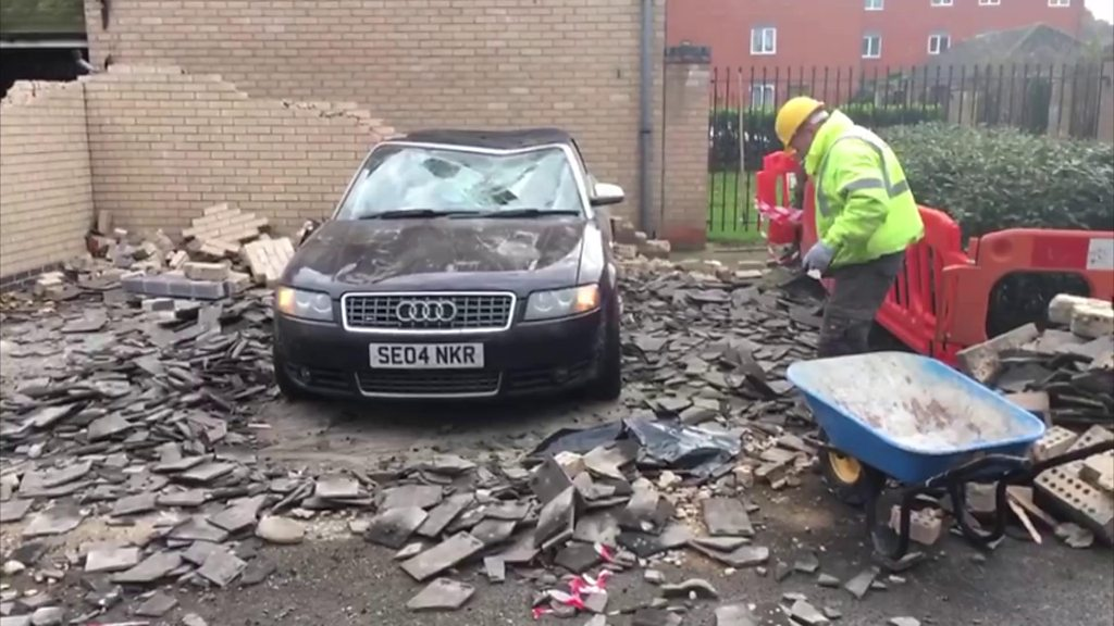 Car crushed after bin lorry hits car port in Colchester