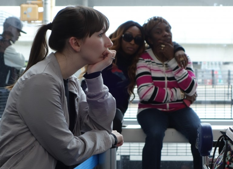 Pasajeros de BA en el aeropuerto JFK de Nueva York