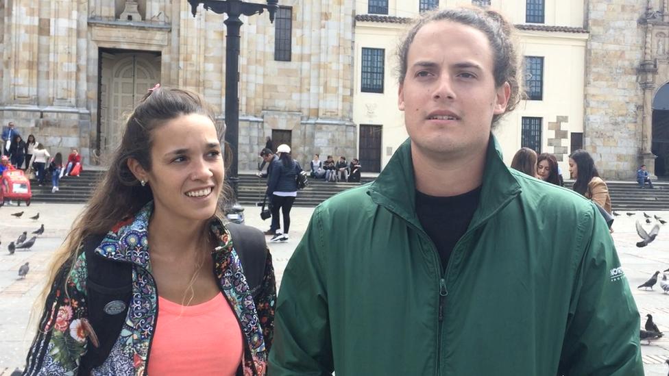 Turistas argentinos en Bogotá.