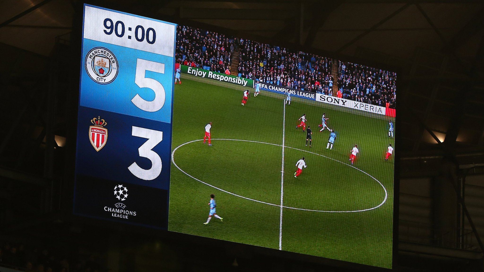 Man City fined £15,573 for incidents relating to Champions League tie