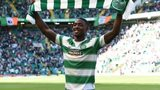 Tyler Blackett is presented to the Celtic Park crowd