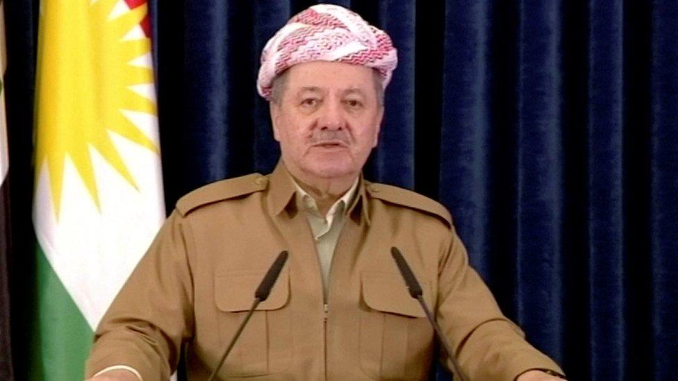 مسعود بارزاني زعيم الحزب الديمقراطي الكردستاني
