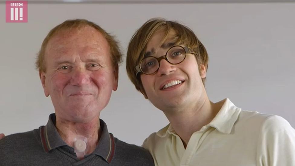 Alan Wells y el doctor Thomas Moore, fundador Shout at cancer