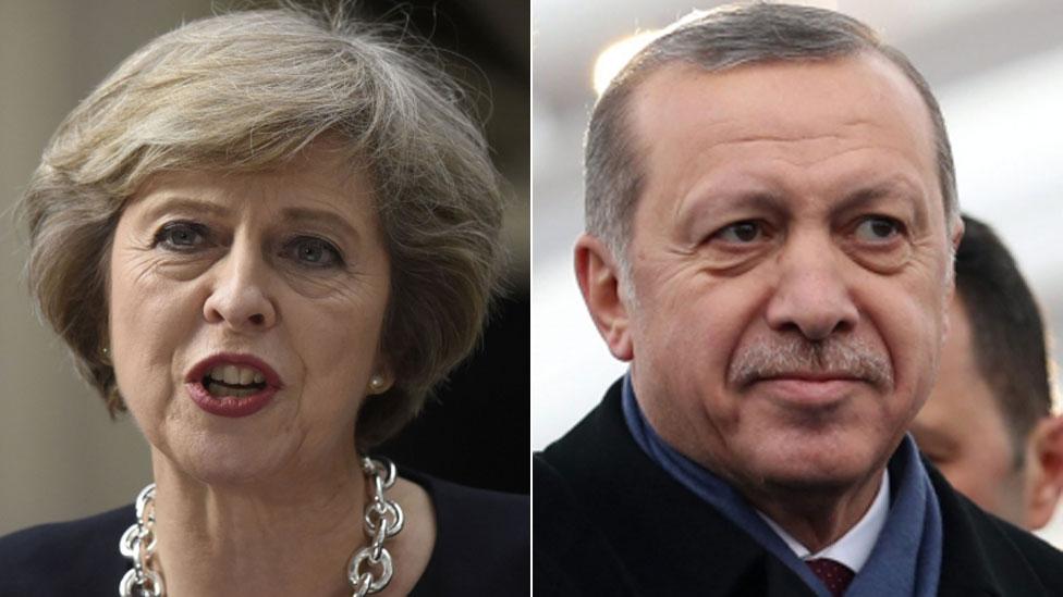 Theresa May to meet Turkey's President Erdogan