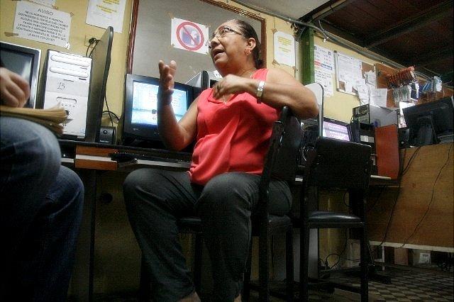 Deixi Tapia, del cyber centro (Foto: Alberto Matheus)