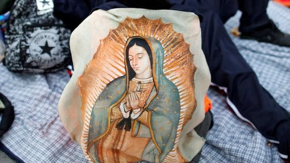 In pictures: Mexico pilgrims brave cold for national patron saint