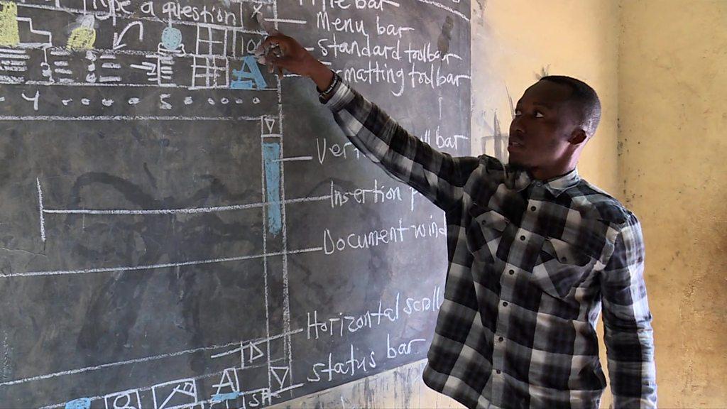 Viral teacher's inspirational chalkboard PC