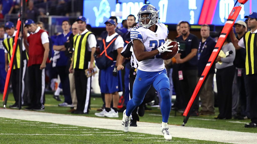 NFL: Detroit Lions' Jamal Agnew returns a punt to seal win over New York Giants