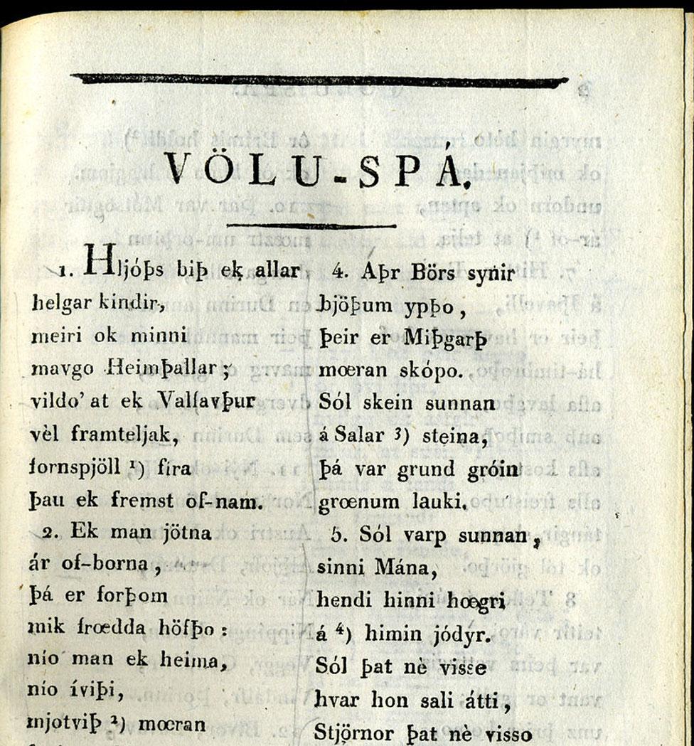 El Voluspá (Foto: A.A. Afzelius/Wikimedia Commons)