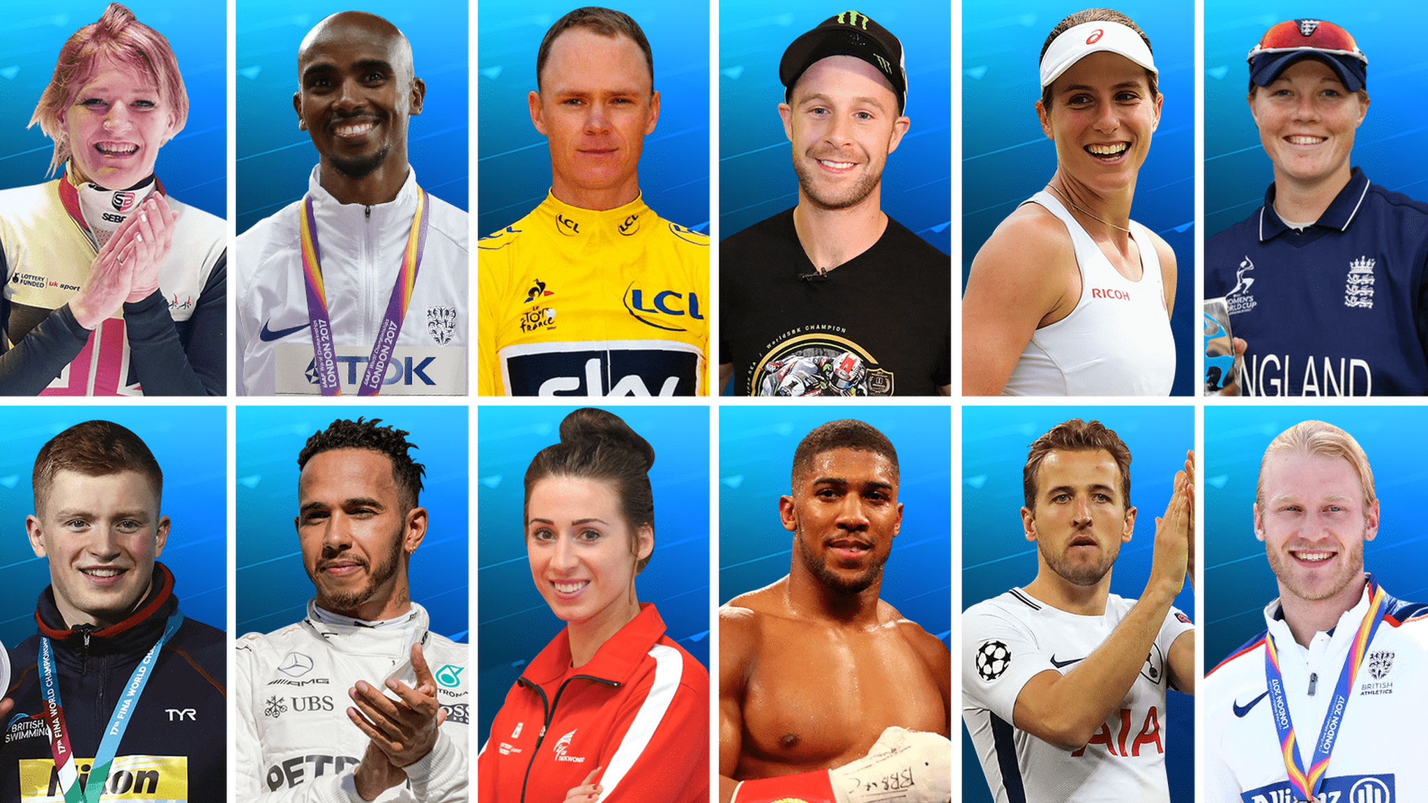 BBC Sports Personality of the Year 2017: Shortlist of 12 revealed for award