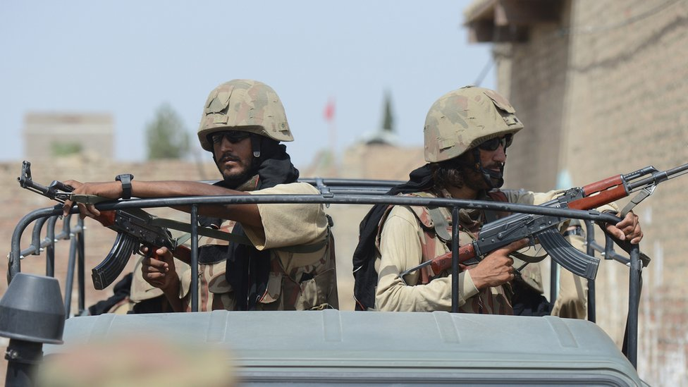 Pakistani troops in Waziristan