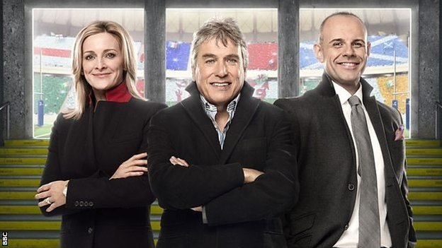 The BBC TV team