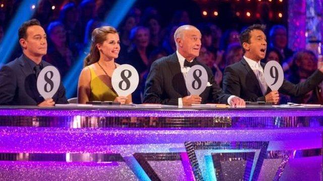 """La lista reveló disparidades en los salarios. Por ejemplo, dentro del popular programa """"Strictly Come Dancing"""", dos jueces ganan más que los otros dos."""