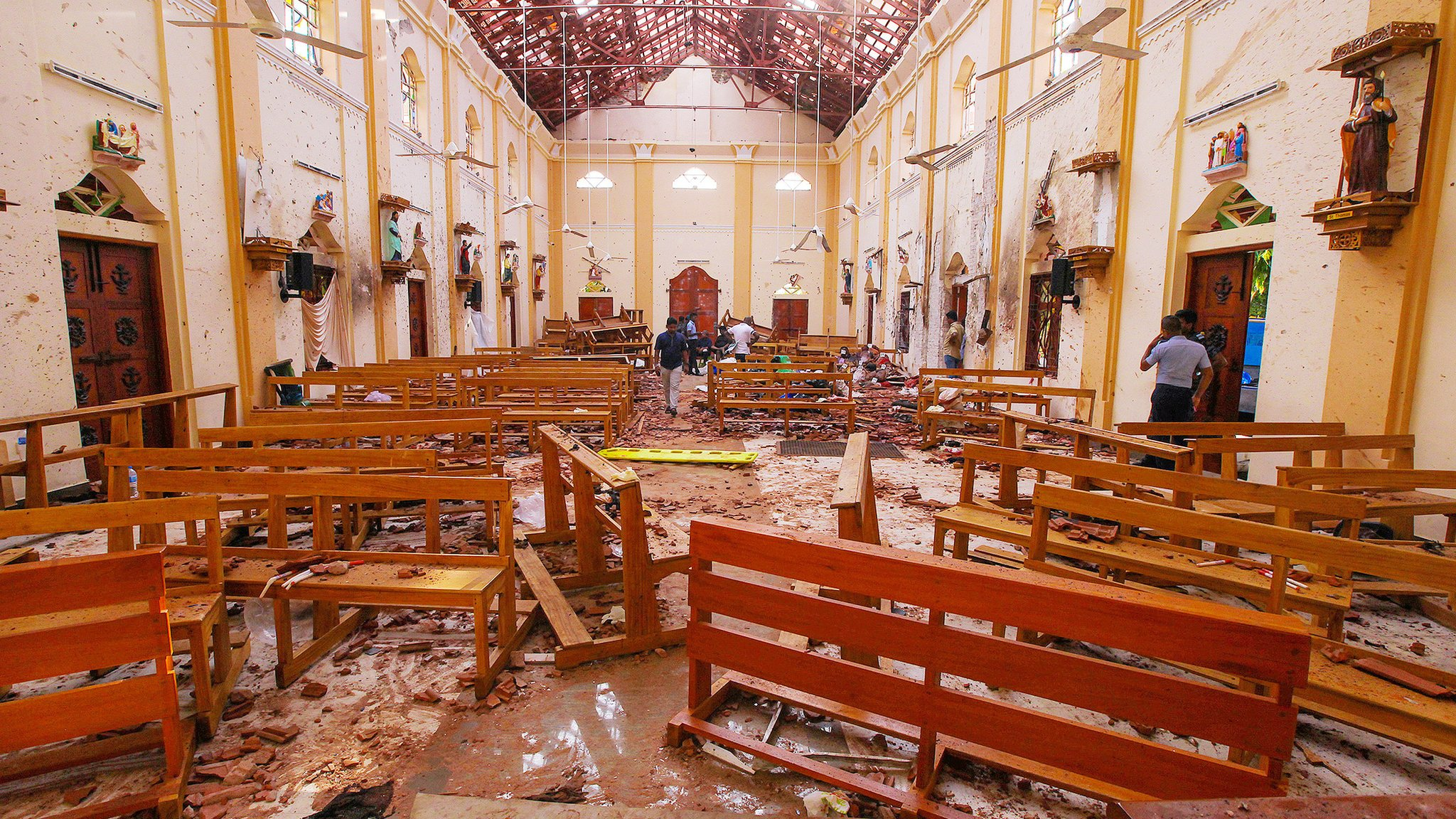 Inside church after the blast