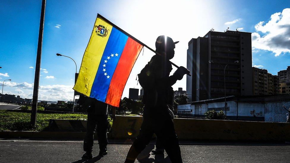 Venezuela vive su primer paro general de 24 horas en 14 años