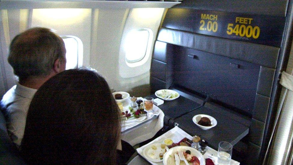 Volar en el Concorde era todo un lujo.