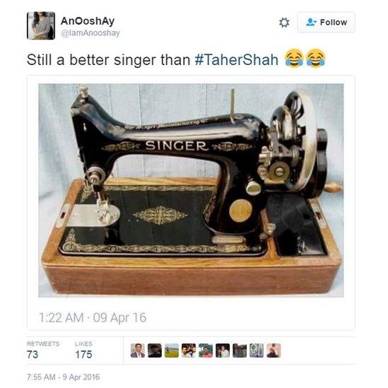Still a better singer than #TaherShah