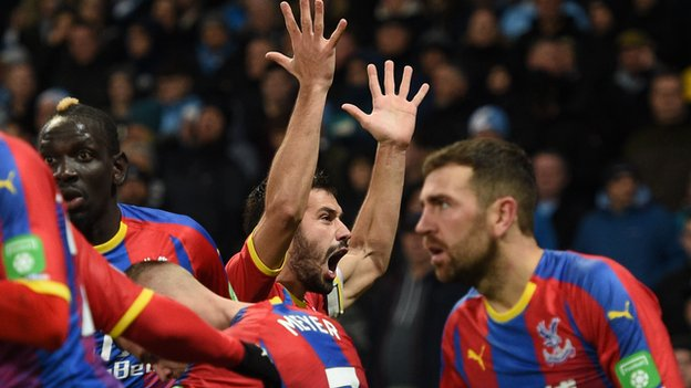 the latest 44c78 e47e1 The day Palace caused a seismic upset away at Man City - Man City fans were  left in gobsmacked silence by a defeat by Crystal Palace that acted as a ...