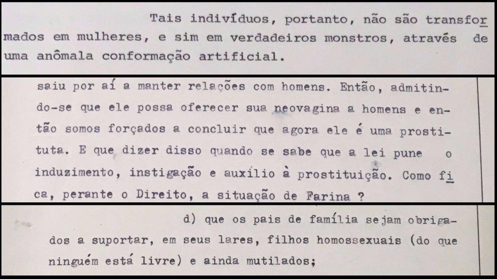 Parte de la denuncia del Ministerio Público de Sao Paulo contra Roberto Farina. Foto: BBC Brasil.